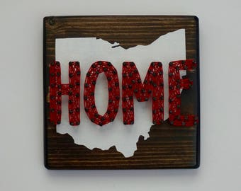 Home State String Art, Home State Sign, Home State Wall Decor