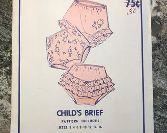Sew Lovely - pattern no c100 - child's brief