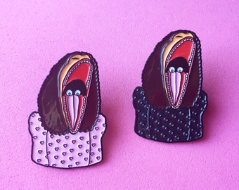 "Barbara Maitland Beetle Juice 1.5"" Enamel Lapel Pin"