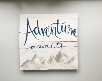 Adventure Awaits | Handmade Nursery Sign