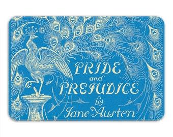 Jane Austen Gifts, Pride & Prejudice Bath Mat, Period Drama Decor, Book Home Decor, Memory Foam Bath Mat, Bathroom Rug - Printed in USA