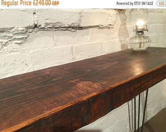 BH Sale FREE DELIVERY! Only 1! 150 y.o Reclaimed Douglas Fir Beams Industrial Hairpin Leg Hall Console Study Table - Village Orchard Furnitu