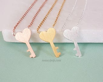 Key of my Heart Necklace - Key Necklace - Key Jewelry - Love's Gift - Girlfriend Gift - Mother Gift - Christmas Gift - Bridesmaid Gift - BFF