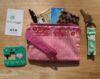 Wristlet, clutch, Iphone Wallet