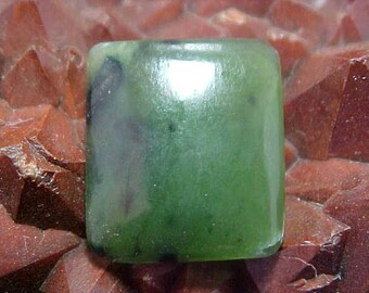 Polished Green Nephrite Jade Cabochon Great to Wire Wrap Into Your Favorite Design 001