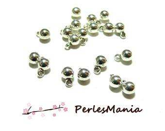 20 mini pendant ball 4mm Platinum 4475EA silver bells