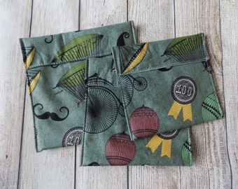 Reusable snack bags set of 3