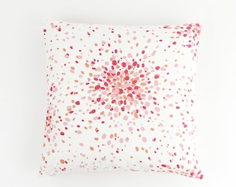 Lulu DK/Schumacher Jelly Bean Pillows Both Sides (shown in Pink Lemonade-also comes in Ocean/Turquoise)