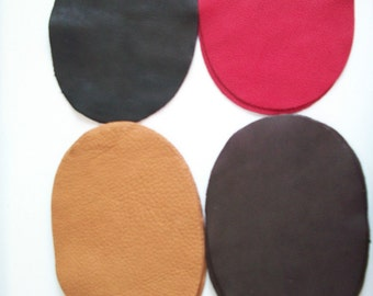 Real Deerskin leather elbow patch kit - sew on - 7'' by 5'' - 4 colors to choose from - made in the USA