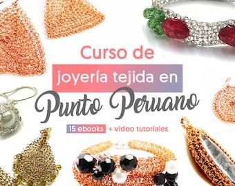 Curso De Joyería Tejida a Crochet En Punto Peruano - 15 Ebooks PDF + Videos Tutoriales