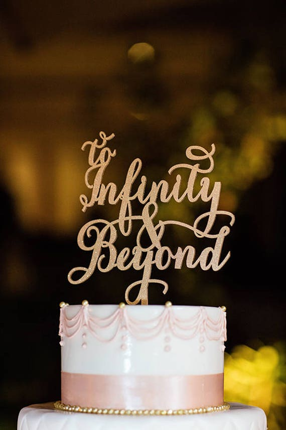 To Infinity and Beyond, Disney wedding, Wedding Cake Topper, Engagement Cake Topper, Toy Story Cake Topper, Gold Cake Topper, Rose Gold Cake