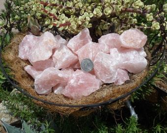 """1 lb Rose Quartz Rough Stones, Rocks, Crystals 2""""--3"""""""