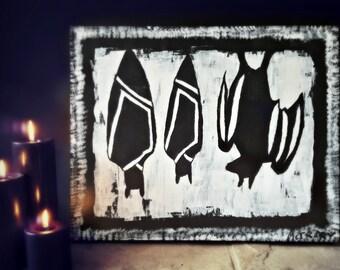Hanging Bat Trio