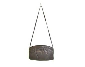 sidewalk artist grey shoulder bag gray purse crossbody leather 70s purse hipster bag bohemian purse vintage 70s handbag boho hippie bag