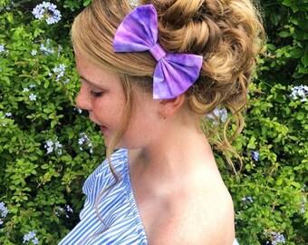 The purple tie dye bow