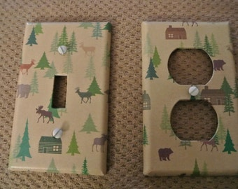 Switch plate cover - Wilderness