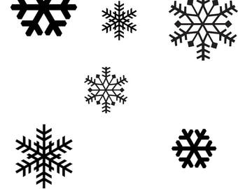 Snowflake Decals | Christmas Decals | Home Decor | Window Decals | Mirror Decals | Car Decals