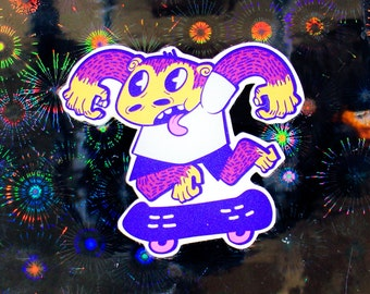 Skate Ape Sticker