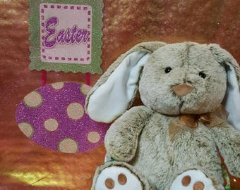 Brown Easter Bunny Embroidered Name