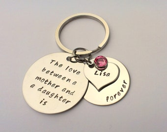 Personalised gift from daughter - gift for mum - Mum keyring - birthday gift for mum - present for mum - mother daughter gift present