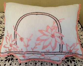 Pillows made from Vintage Linens