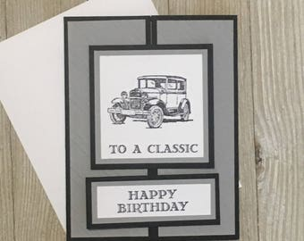 Happy Birthday Card - Birthday Cards - Hotrod Cards / Handmade Greeting Cards - Stampin Up Greeting Cards - Personalized Greeting Cards