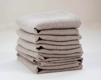 Linen napkin set of 12 - natural linen cloth napkins, tableware, wedding napkins, napkin, dinner napkins, reusable napkins 18x18 inch  0364