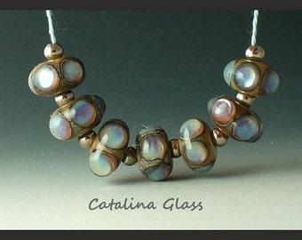 Perles au chalumeau à la main par Catalina perles SRA opale Pastels 7
