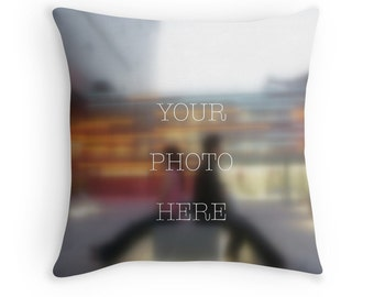 Personalized custom photo throw pillow cushion cover gift, Mother's Day Father's Day Graduation engagement wedding newborn baby shower gift