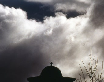 Silhouette Against the Clouds - Lanscape