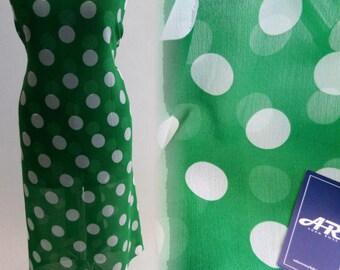 Fresh Grass White Spot Print - 58 Inches Wide
