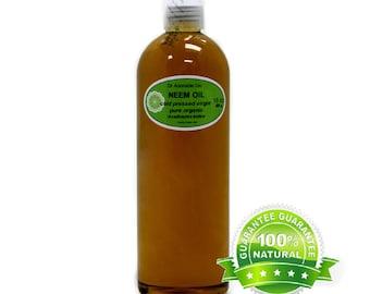 16 OZ Pure Organic Neem Oil Cold Pressed UNREFINED VIRGIN