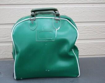VINTAGE GREEN bowling ball bag