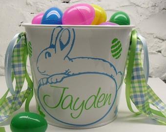 Personalized Easter Pail ~ Easter Basket ~ Custom Easter Bucket ~ Gift Basket ~ Personalized Pail ~ Name Bucket ~ 5 Quart Pail