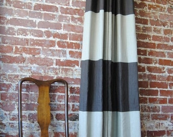 """84""""L Striped Drapery Panel  - custom curtains - 28 color options"""