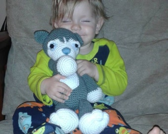 crochet husky dog plush toy