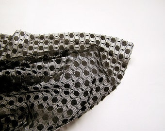 Vintage Black Lace Guipure fabric 1.69 yards in 1 listing, 70s, synthetic lace, gothic wedding lace