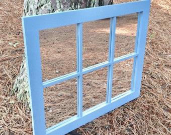 Faux Window Mirror / Window Mirror / Fake Window Mirror / Window Frame Mirror / False Window Mirror / Framed Mirror /Home Decor, Wall Art
