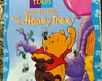 Vintage Children's Book Winnie the Pooh and the Honey Tree Little Golden Books Get 5 Books for 10 dollars