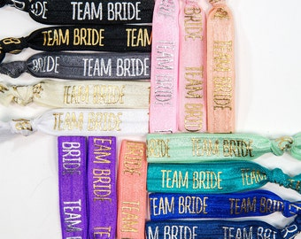 Team Bride Hair Ties | Bachelorette Party| Team Bride| Bridesmaid Gift| Team Bride Hair Ties| Hair Ties| Hair Tie Favors| Bridesmaid Hair