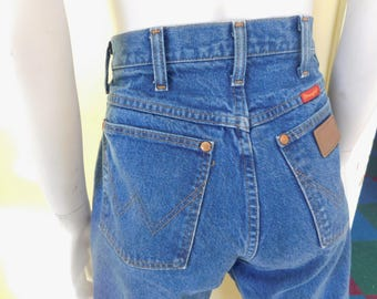 """Vintage, High Waisted, Wrangler, Blue Jeans, Size 7, 28"""" x 32"""" (two pair available)"""