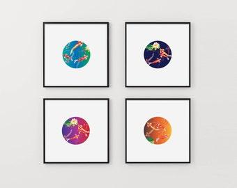 Modern Japanese Pop Art. Digital Download art by Jill Kang