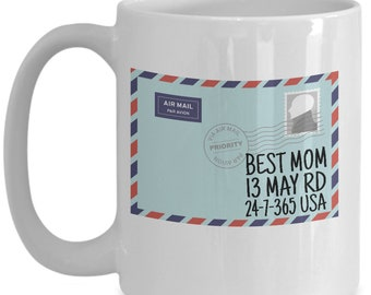 Best mom mothers day postcard mug