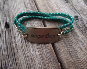 Carpe Diem Wrap Bracelet