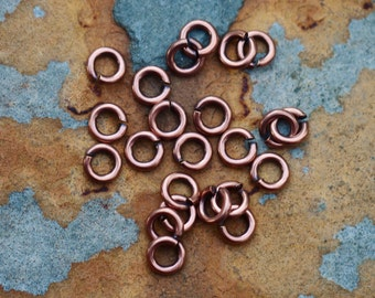 Antique Copper Small Thick Jumprings 5.5mm   Nunn Designs Pick Your Own Bulk Price
