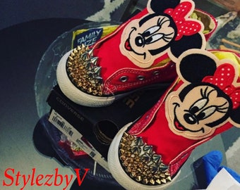 Mickey Mouse converse - Mickey mouse shoes - Customize chucks - Custom Mickey Converse - Personalized Converse - Mickey Mouse baby Converse