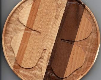 Custom Wood St. Patrick's Day Shamrock Coasters