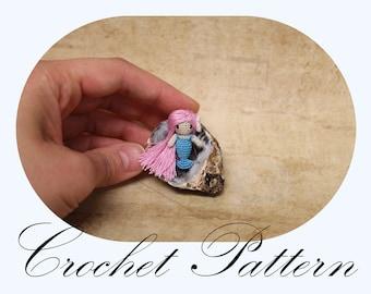 PATTERN: Tiny Mermaid Pattern, Crochet Pattern, Amigurumi Mermaid, One Inch Mermaid, Amigurumi Pattern, Seamless Doll (ENGLISH Only)