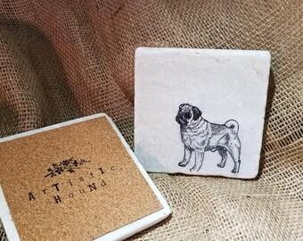 Pug Stone Coasters