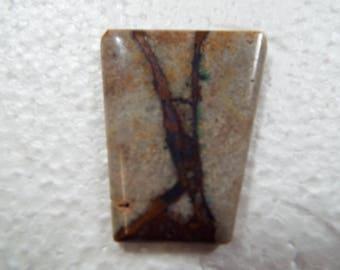 Natural Copper Ore Vein in Matrix Cabochon